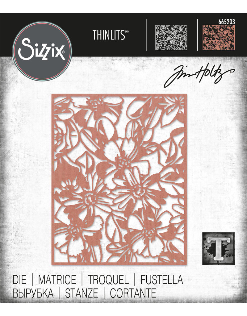 Tim Holtz Flowery Thinlits Die Set