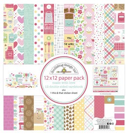 DOODLEBUG made with love:  12x12 paper pack