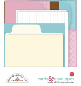 DOODLEBUG made with love:  assortment cards & envelopes