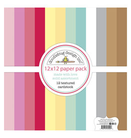 DOODLEBUG made with love:  textured cardstock assortment pack