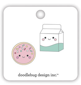 DOODLEBUG made with love: cookies & cream collectible pins