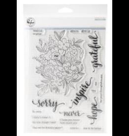 pinkfresh studios Floral Cluster Stamp