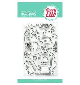 avery elle Peek-A-Boo Flight Stamp