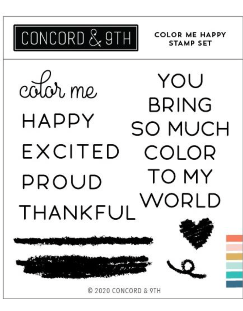 concord & 9th Color Me Happy Stamp Set