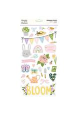 simple stories Bunnies + Blooms - 6x12 Chipboard