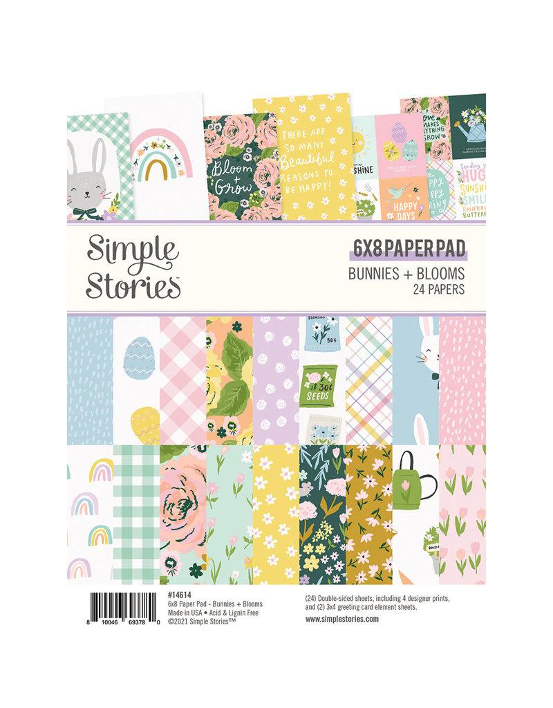 simple stories Bunnies + Blooms - 6x8 Pad