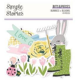simple stories Bunnies + Blooms - Bits & Pieces
