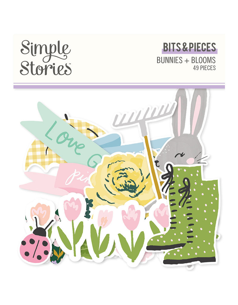 simple stories Bunnies + Blooms - Bits & Pieces