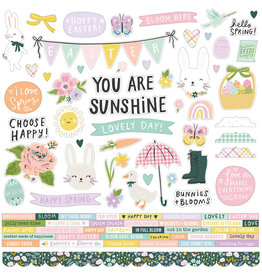 simple stories Bunnies + Blooms - Cardstock Sticker