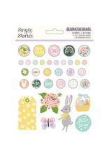 simple stories Bunnies + Blooms - Decorative Brads