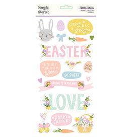 simple stories Bunnies + Blooms - Foam Stickers