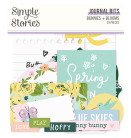 simple stories Bunnies + Blooms - Journal Bits