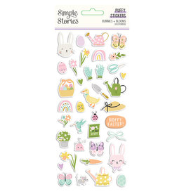 simple stories Bunnies + Blooms - Puffy Stickers