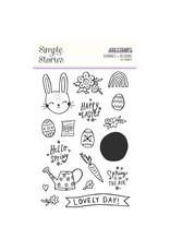simple stories Bunnies + Blooms - Stamps