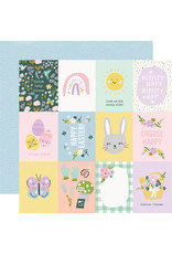 simple stories Bunnies + Blooms Paper - 3x4 Elements