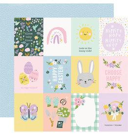 simple stories Bunnies + Blooms Paper - 3x4 Elements