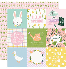 simple stories Bunnies + Blooms Paper - 4x4 Elements