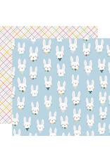 Simple Stories Bunnies + Blooms Paper - Bunny Love