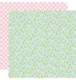 simple stories Bunnies + Blooms Paper - Choose Happy