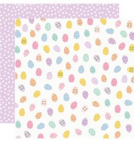 simple stories Bunnies + Blooms Paper - Egg Hunt