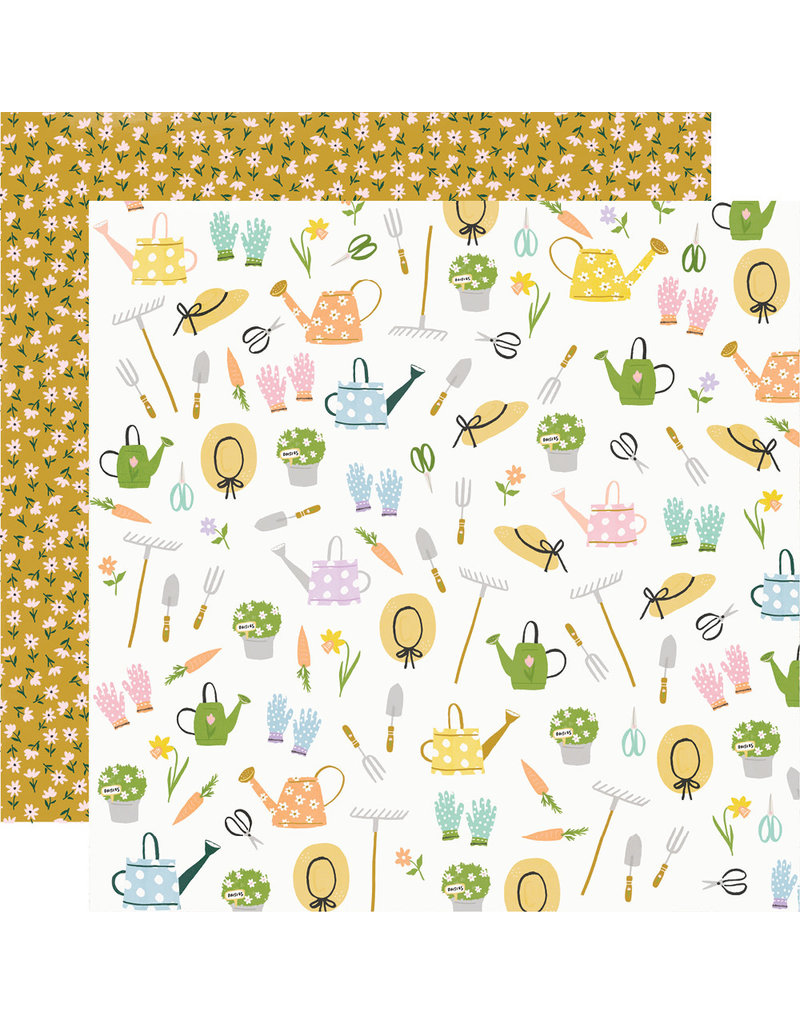 Simple Stories Bunnies + Blooms Paper - Garden Party