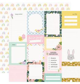 simple stories Bunnies + Blooms Paper - Journal Elements