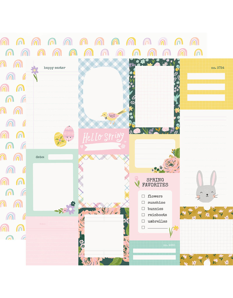 simple stories Bunnies + Blooms Paper - Journal Elements