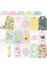 simple stories Bunnies + Blooms Paper - Tags