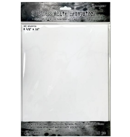 Tim Holtz DISTRESS WHITE HEAVYSTOCK 10/PKG