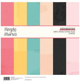 simple stories Simple Vintage Cottage Fields - 12x12 Basics Kit
