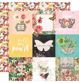 simple stories Simple Vintage Cottage Fields Paper - 4x4 Elements