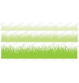 Impression Obsession Grass Set Slim Scenes Cling Stamps