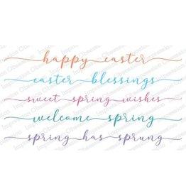Impression Obsession Spring Sentiment Set Slim Cling Stamps