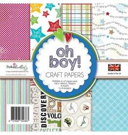 Polkadoodles Oh Boy 6xx6 Paper