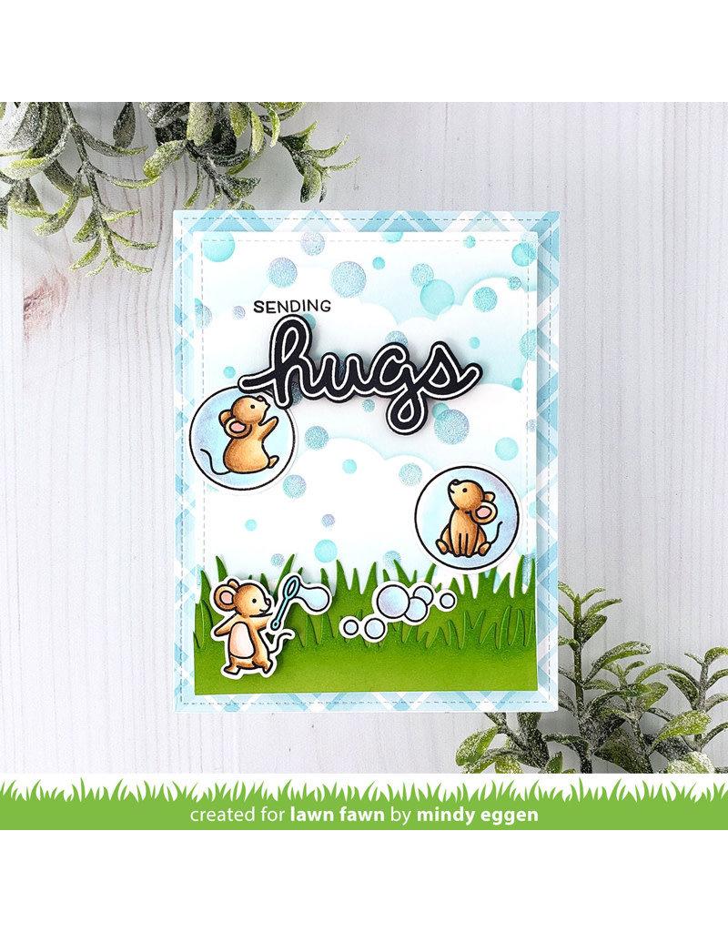lawn fawn bubble background stencils