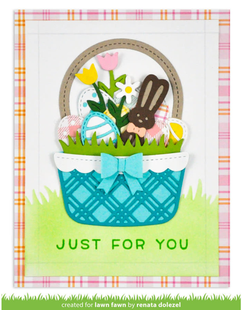 lawn fawn build-a-basket: easter die