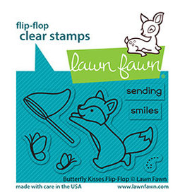 lawn fawn butterfly kisses flip-flop stamp