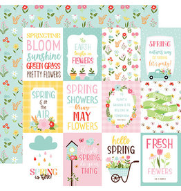 Echo Park Welcome Spring Paper: 3X4 Journaling Cards