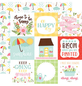 Echo Park Welcome Spring Paper: 4X4 Journaling Cards