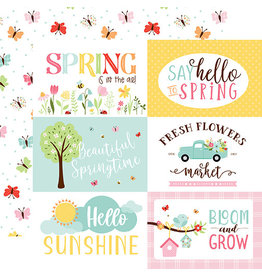 Echo Park Welcome Spring Paper: 6X4 Jouranling Cards
