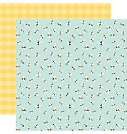 Echo Park Welcome Spring Paper: Bumblebee Breeze