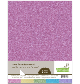 lawn fawn sparkle cardstock: spring