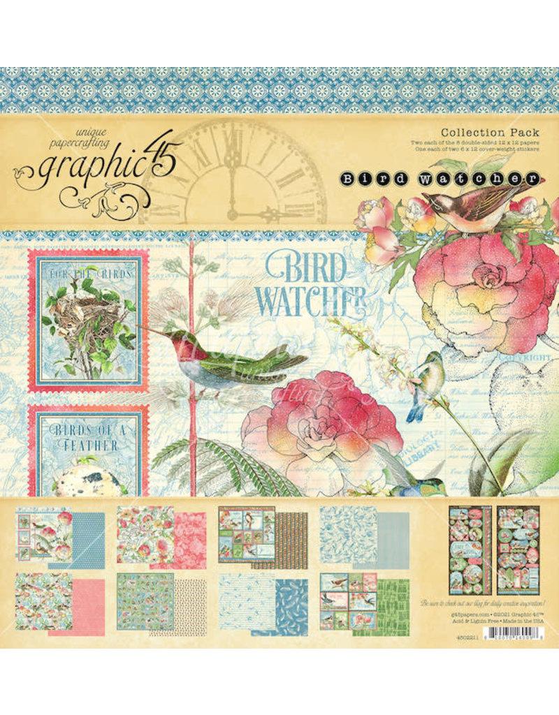 Graphic 45 Bird Watcher 12x12 Collection Pack