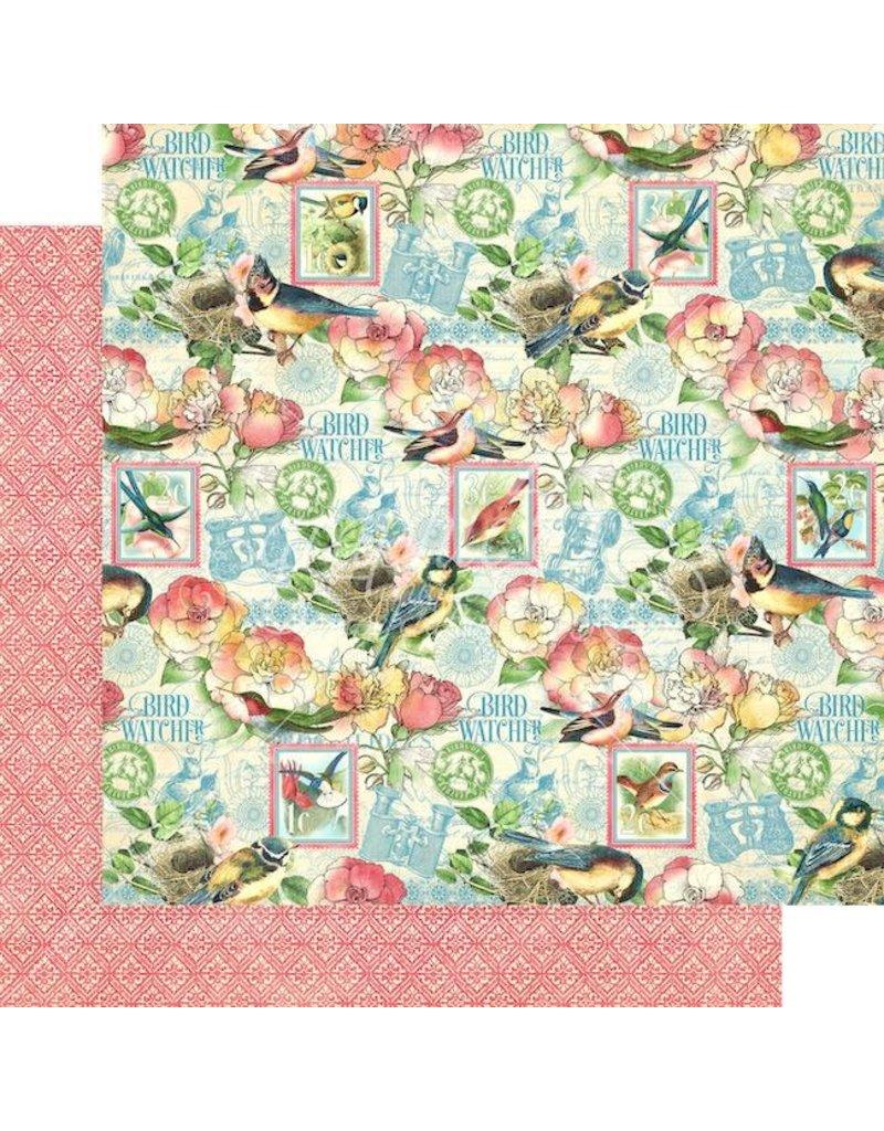 Graphic 45 Bird Watcher Paper: Just Breathe