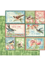 Graphic 45 Bird Watcher Paper: Learn to Fly