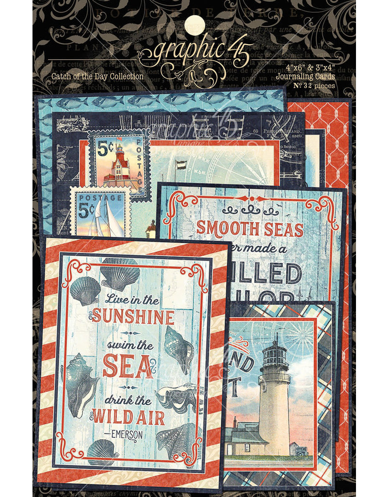GRAPHIC45 Catch of the Day Journaling Cards