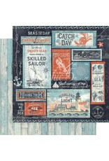 GRAPHIC45 Catch of the Day Paper: Seas the Sunshine
