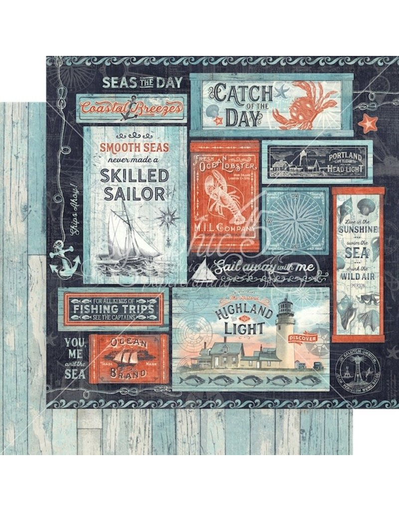 Graphic 45 Catch of the Day Paper: Seas the Sunshine