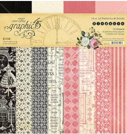 GRAPHIC45 Elegance 12x12 Patterns & Solids Pad