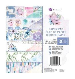 Watercolor Floral: 6X6 Pad